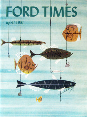 Ford times retrospective the charley harper gallery for Charley s fishing