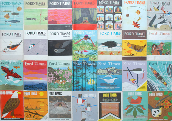 Ford Times Retrospective of Charley Harper | Charley Harpers Covers for Ford Times Magazine | For Sale